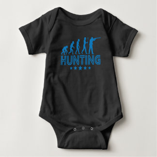 Body Para Bebê Evolução retro da caça