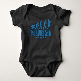 Body Para Bebê Evolução retro da enfermeira