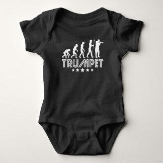 Body Para Bebê Evolução retro da trombeta