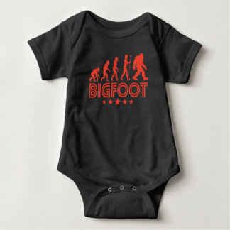 Body Para Bebê Evolução retro de Bigfoot