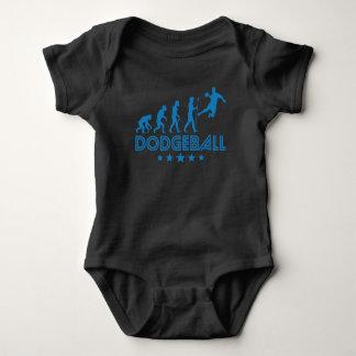 Body Para Bebê Evolução retro de Dodgeball