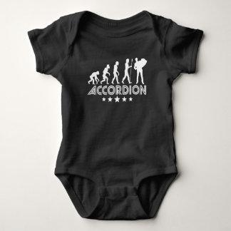 Body Para Bebê Evolução retro do acordeão