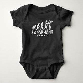 Body Para Bebê Evolução retro do saxofone