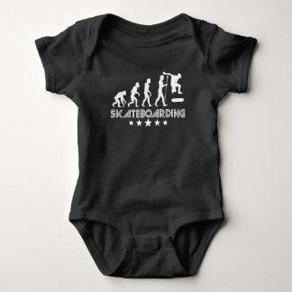 Body Para Bebê Evolução Skateboarding retro