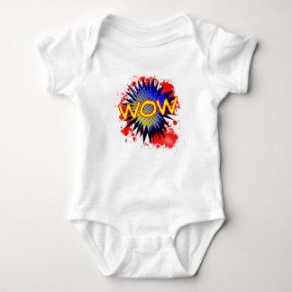 Body Para Bebê Exclamação cómica do wow