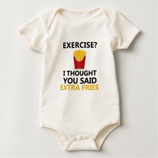Body Para Bebê EXERCÍCIO que eu pensei que você disse fritadas do