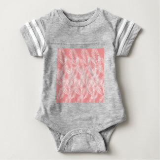 Body Para Bebê Exotico do branco do rosa das palmas do design