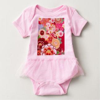 Body Para Bebê Explosão floral vermelha de Falln