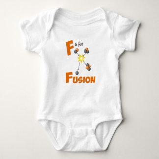 Body Para Bebê F é para a física bonito da fusão & o design da