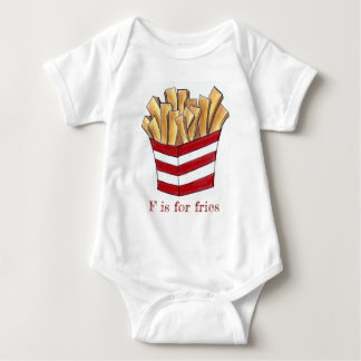 Body Para Bebê F é para a fritada rápida do francês do alfabeto