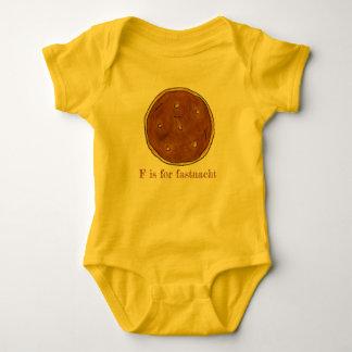 Body Para Bebê F é para o Dutch do PA da rosquinha do dia de
