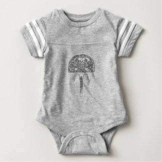 Body Para Bebê Fã do esboço de Tutenkhamun