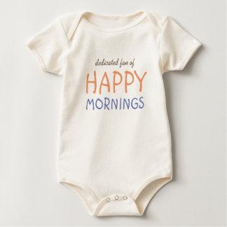 Body Para Bebê Fã do texto feliz do costume das manhãs