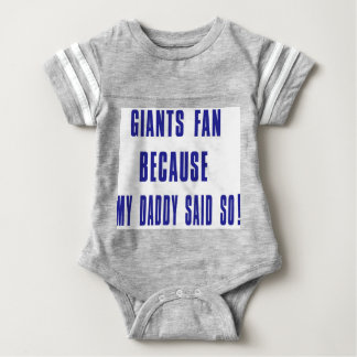 Body Para Bebê fã dos gigantes