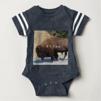 Body Para Bebê Fã Onsie do búfalo #1