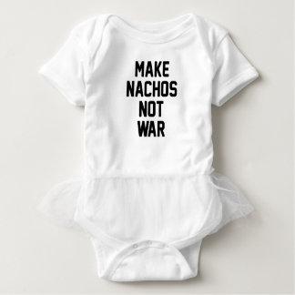 Body Para Bebê Faça a guerra dos Nachos não