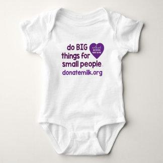 Body Para Bebê faça coisas GRANDES para pessoas pequenas
