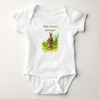 Body Para Bebê Faça o Bodysuit do bebê do coelho de coelho do