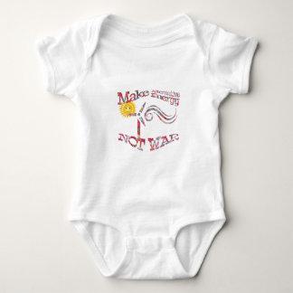 Body Para Bebê Faça o design floral da guerra da energia