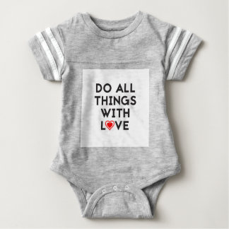 Body Para Bebê Faça todas as coisas com amor