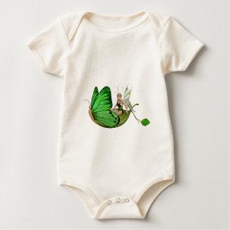 Body Para Bebê Fada de Elven em um barco da folha