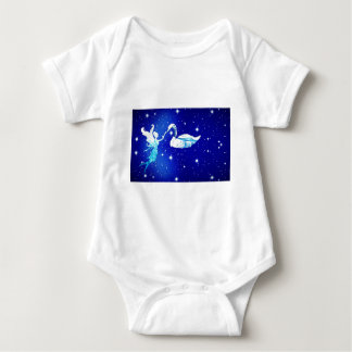 Body Para Bebê fada e a cisne