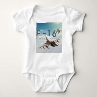 Body Para Bebê Falcão F-16 de combate