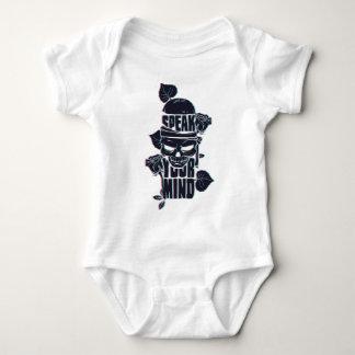 Body Para Bebê fale seu crânio da mente