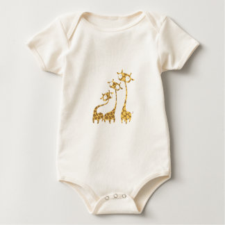 Body Para Bebê Família bonito do girafa - animais do savana