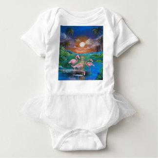 Body Para Bebê Famingos tropical