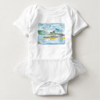 Body Para Bebê Fantasia das montanhas de Scotland e castelo de