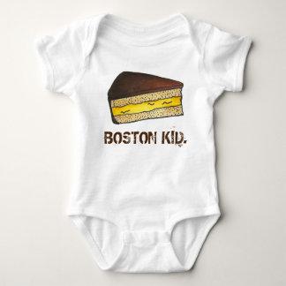 Body Para Bebê Fatia Massachusetts Foodie da torta de creme do