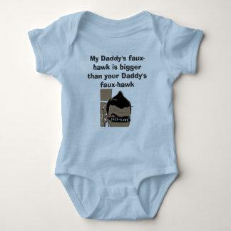Body Para Bebê Faux-hawk_FLAT, o falso-falcão do meu pai é mais