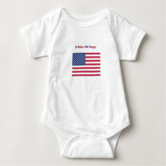 Body Para Bebê Faz-me a bandeira americana feliz