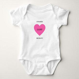 Body Para Bebê Faz-me o acampamento feliz