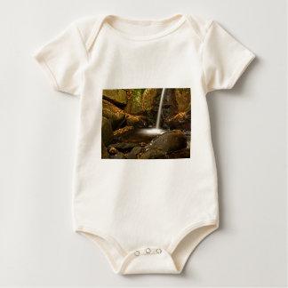 Body Para Bebê Feche acima das quedas da armadilha no outono