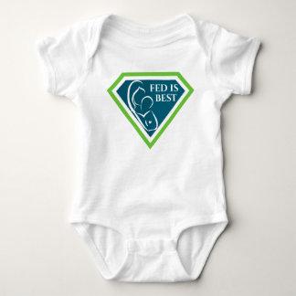 Body Para Bebê Fed é melhor Bodysuit original do bebê do logotipo