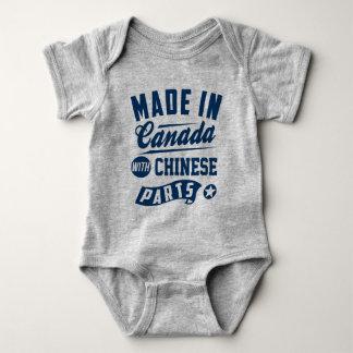 Body Para Bebê Feito em Canadá com peças chinesas