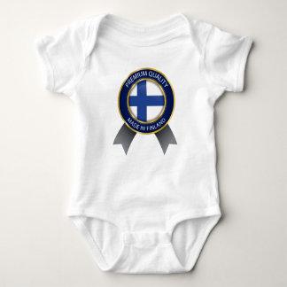 Body Para Bebê Feito em Finlandia, bandeira finlandesa