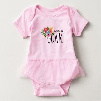 Body Para Bebê Feito em Guam com flores