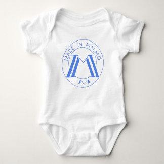 Body Para Bebê Feito em Malmö branco/azul