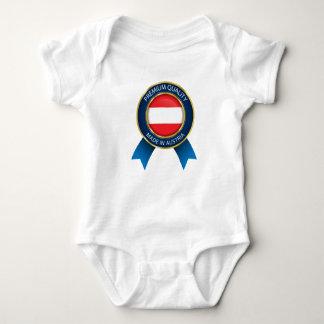 Body Para Bebê Feito na bandeira de Áustria, cores austríacas,