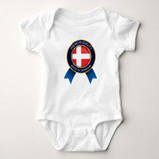 Body Para Bebê Feito na bandeira de Dinamarca, pano dinamarquês