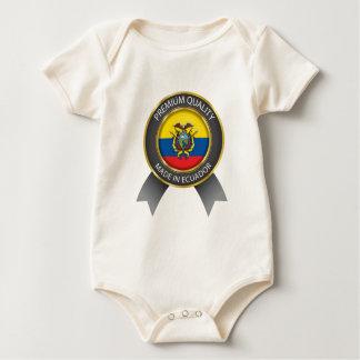 Body Para Bebê Feito na bandeira de Equador, república de cores