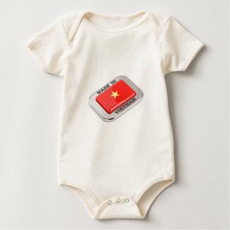 Body Para Bebê Feito no crachá brilhante de Vietnam
