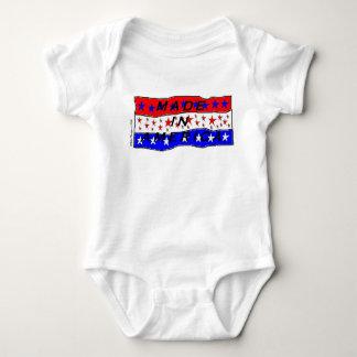 Body Para Bebê Feito no Creeper da criança de América