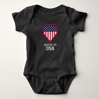 Body Para Bebê Feito no t-shirt dos patriotas da bandeira do