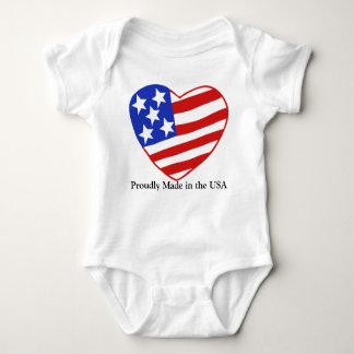Body Para Bebê Feito orgulhosa nos EUA