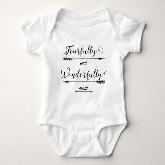 Body Para Bebê Feito temìvel e maravilhosamente