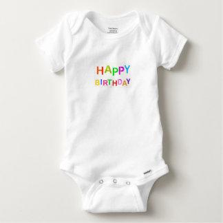 Body Para Bebê feliz-aniversário-texto